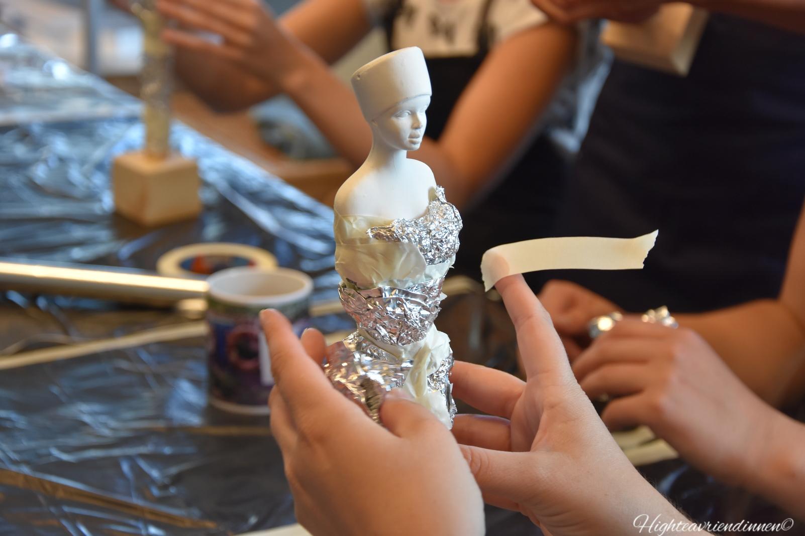 high tea vriendinnen, creatief atelier stoer