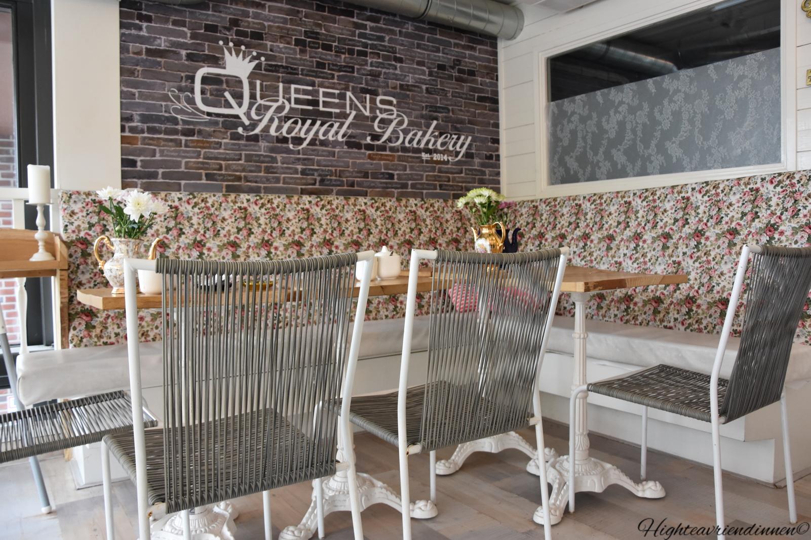queen royal bakery, high tea vriendinnen