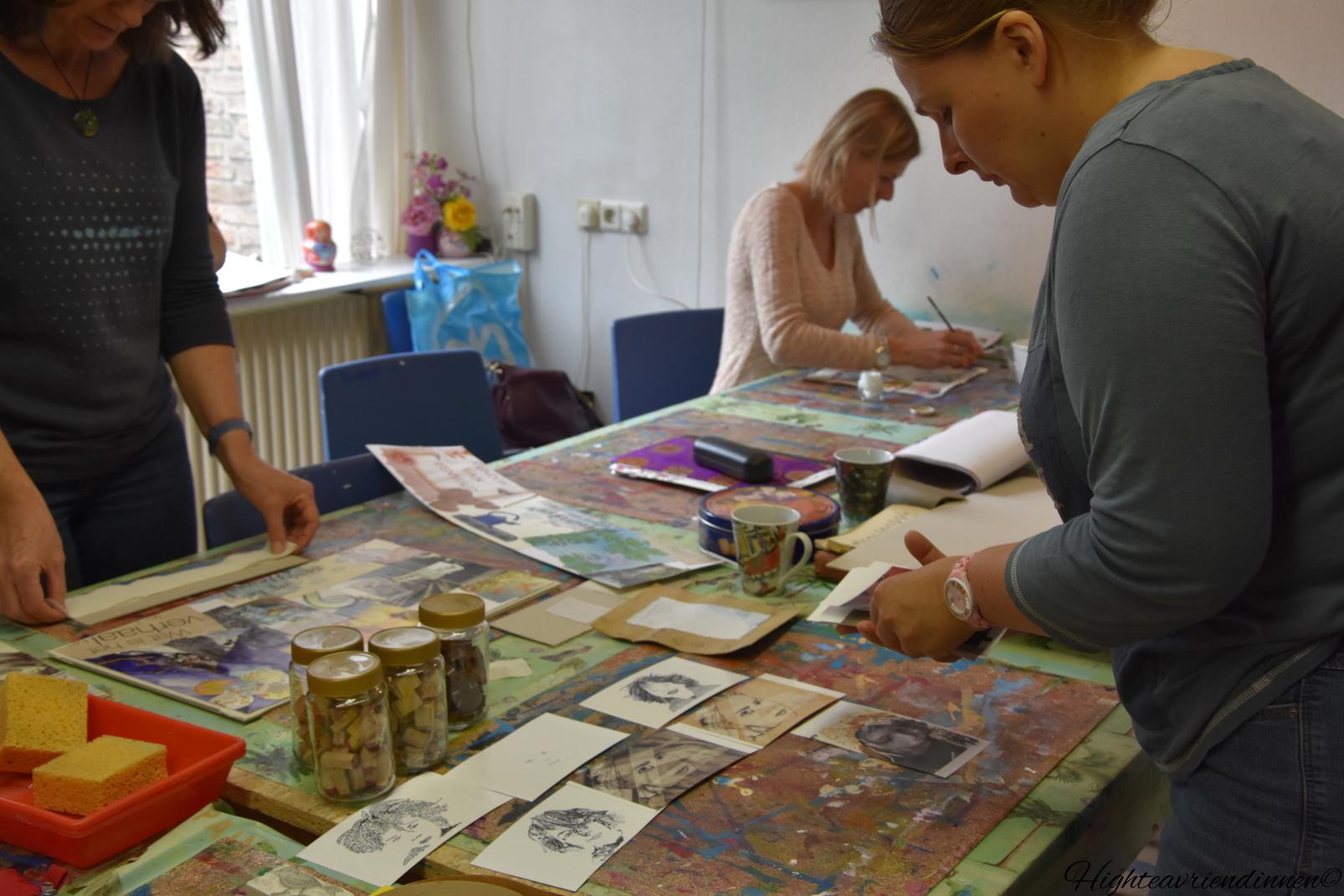 Juliette Pestel, high tea vriendinnen, mixed-media, beeldboek, workshops